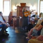 Balladeer Linda Russell sang Hudson Valley folksongs at the French Church.