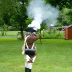 Firing the musket.