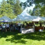 Luncheon tent near Deyo House